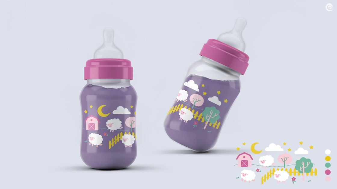 Ilustração de linha de produtos infantis