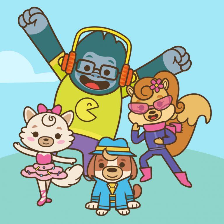 Ilustração de personagens